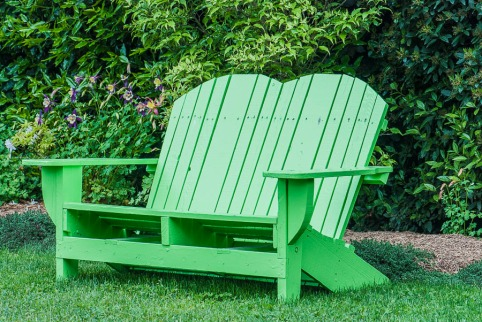 Green - Bench and Bushes