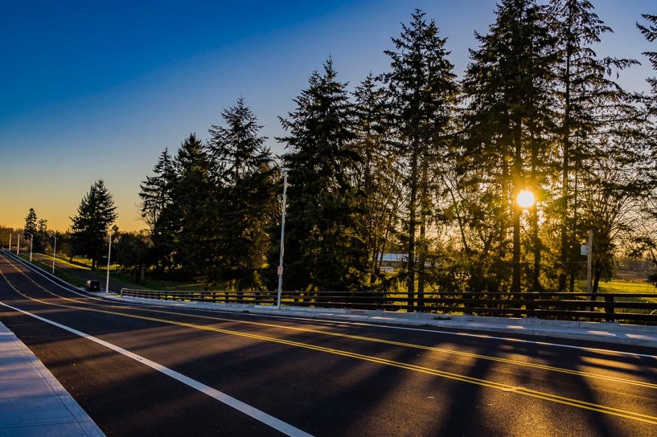Canby, Oregon near sunset.