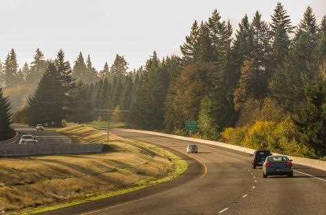 I-25 South of Salem, Oregon.