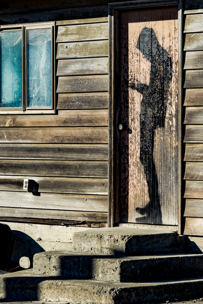 Abandoned building door.