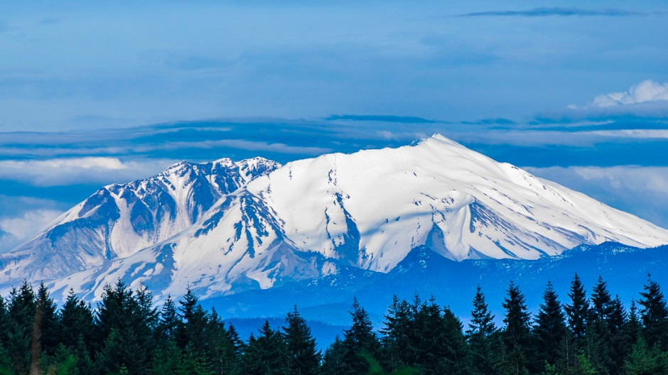 MOUNT St Helen from the northside, Washington.