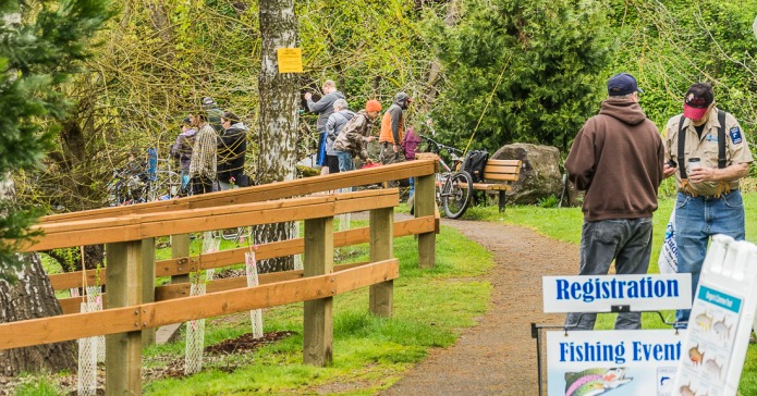 Fishing Event, Canby Community Park, Oregon.