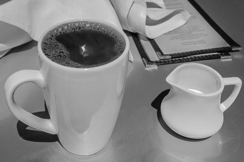 Coffee and cream.