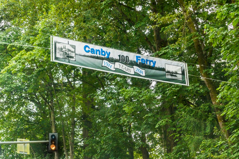 Celebrating Canby's ferry 100 year anniversary.