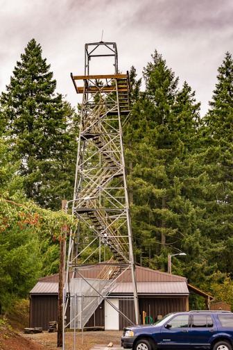 Fire Lookout Tower near Oregon City, Oregon.