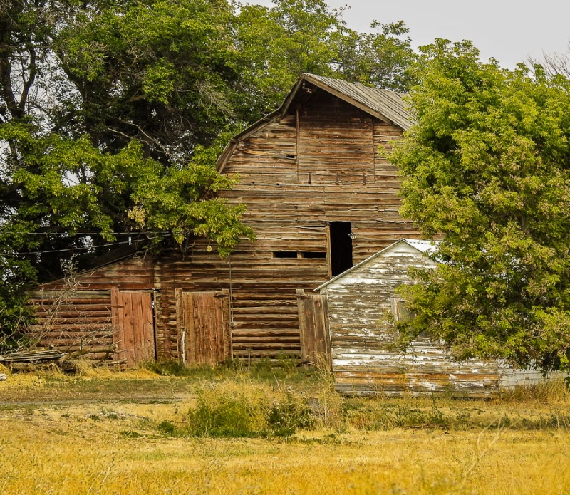 Old barn near Idaho Falls, Idaho.