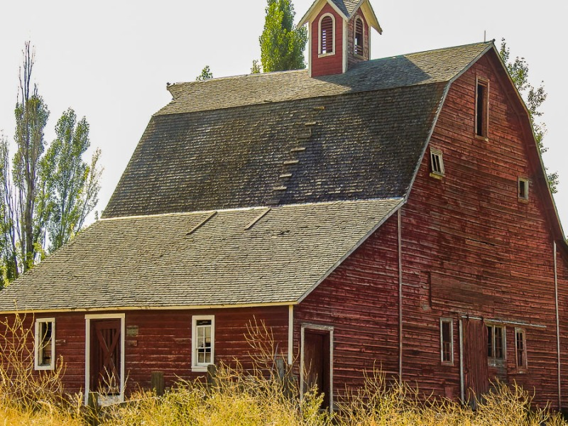 Old barn near Idaho Falls, ID. Photo taken this summer.