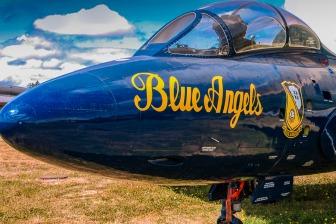 Cockpit windows of a Blue Angle Jet.