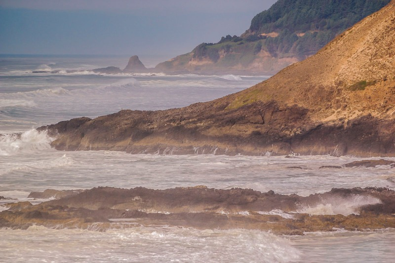 View from Roads End Beach in Lincoln City, Oregon.