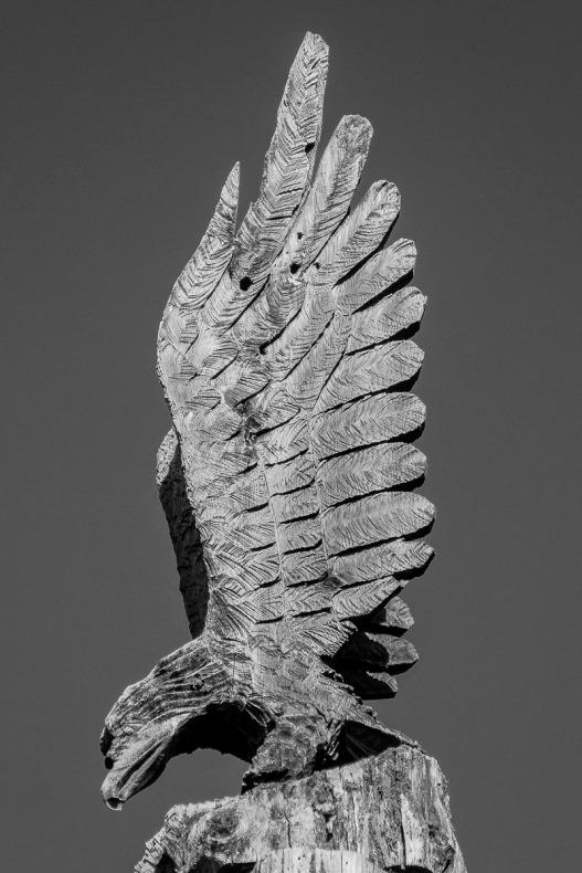 Eagle carving from Camp 18, Elsie, Oregon.