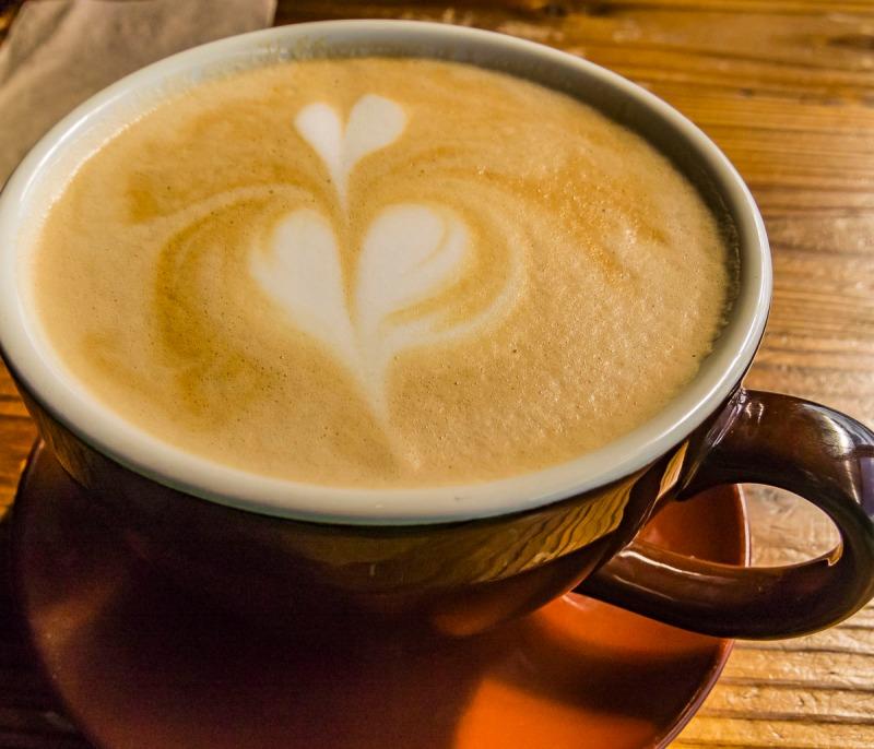 Heart latte.
