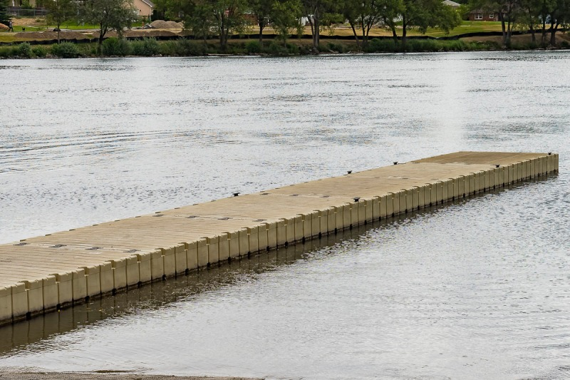 An almond colored dock.
