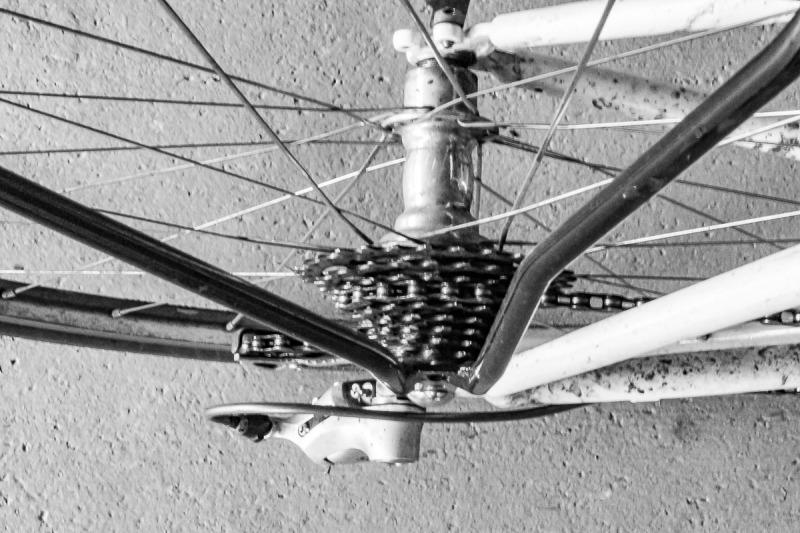 Bicycle wheel.