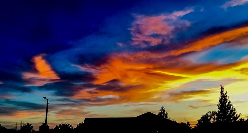 Sunset in Idaho Falls, Idaho.