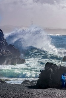 I adore the ocean and love the big waves and splashes.