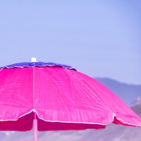 Pink Squares:  Beach Umbrella