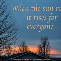 Nurturing Thursday - Today's Sun Rise 1/17/19