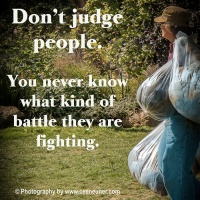Nurturing Thursday - Don't Judge People
