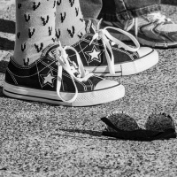 Cee's Black & White Photo Challenge: Shoes, Boots, Slippers
