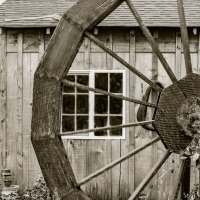 Cee's Black & White Photo Challenge: Things Made From Wood