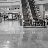 Cee's Black & White Photo Challenge: Indoor Walkways, Hallways, Elevators