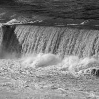 Cee's Black & White Photo Challenge:  Moving Water