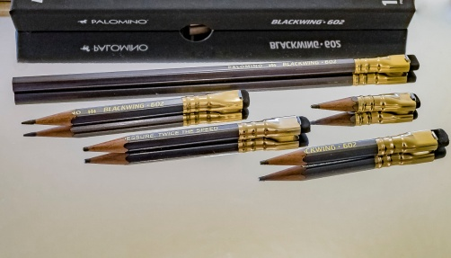 Chris's used pencil samples.