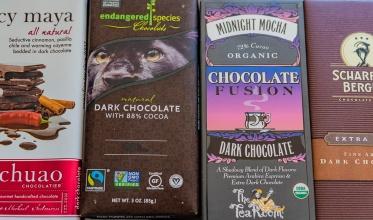 My dark chocolate bar collection.