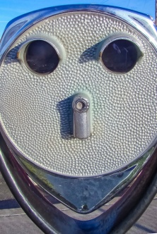 Happy face viewing machine.