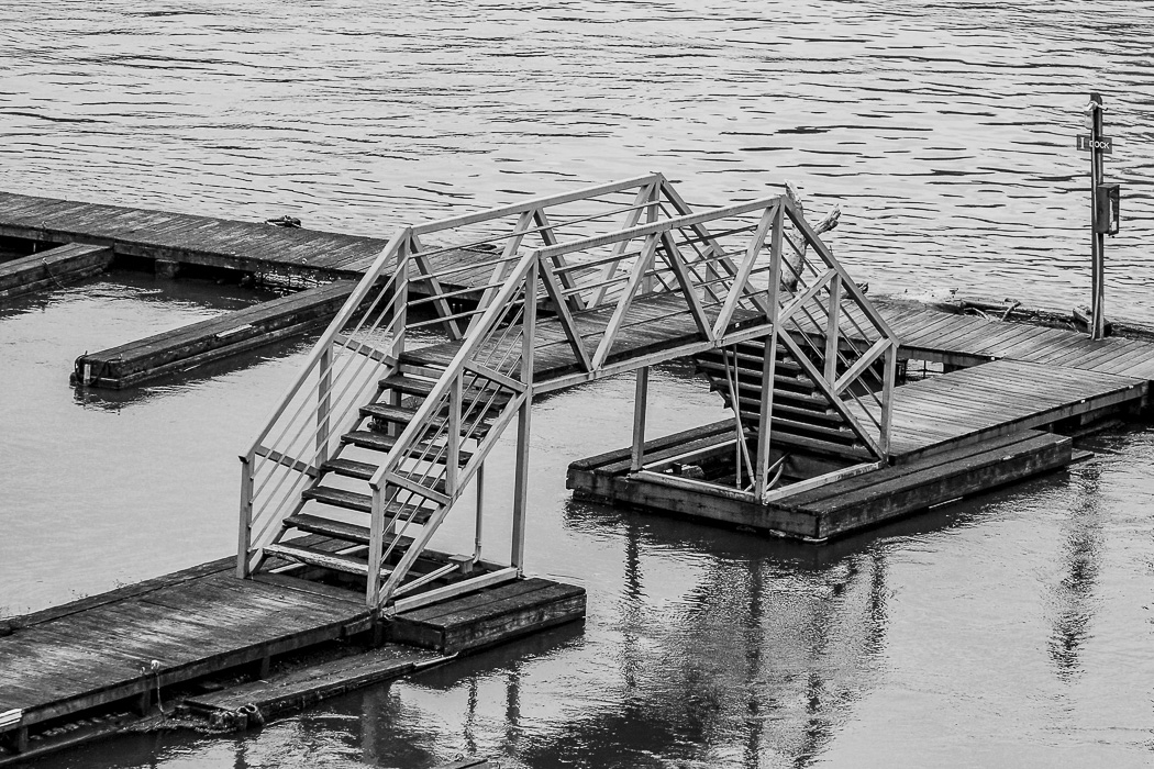 Cee's Black & White Photo Challenge: Outdoor ways to move up or down