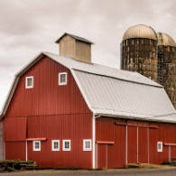 crop showing the barn