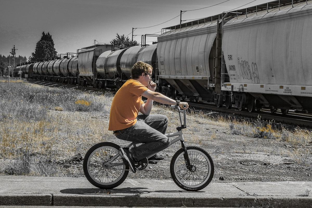 Cee's Black & White Photo Challenge: Trains and Tracks