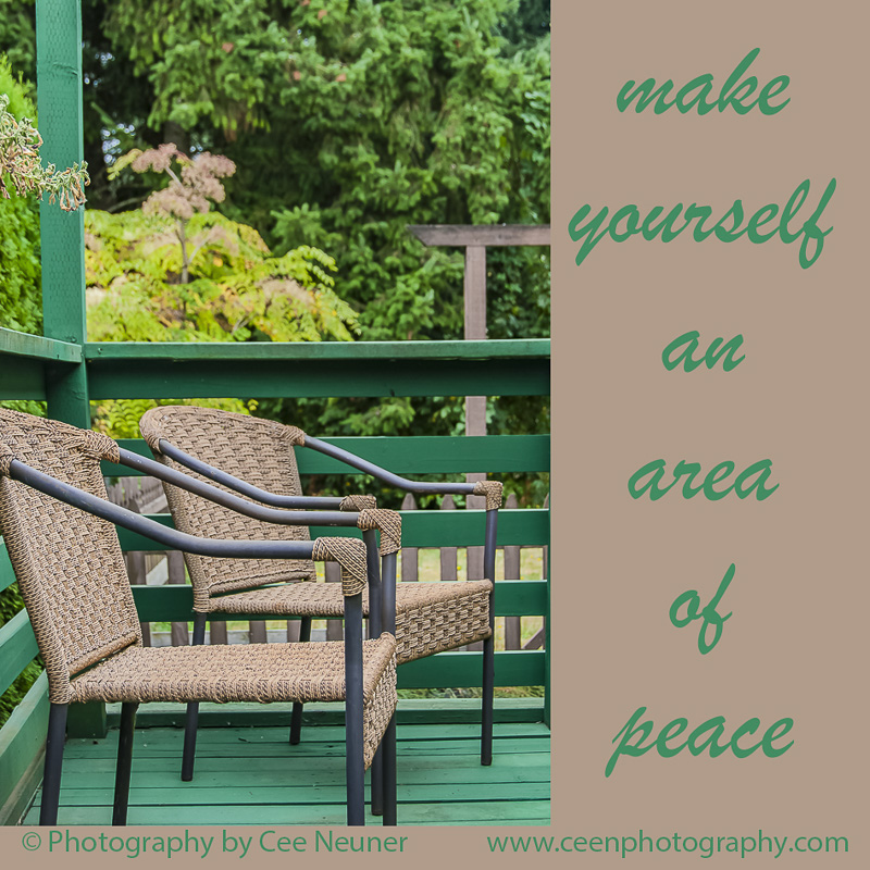 Pick Me Up and Six Word: make yourself an area of peace