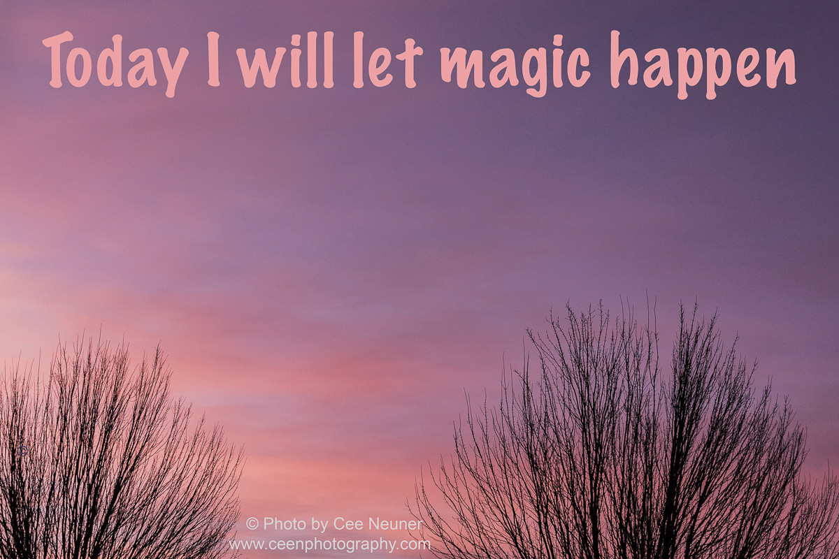 Pick Me Up: Today I will let magic happen