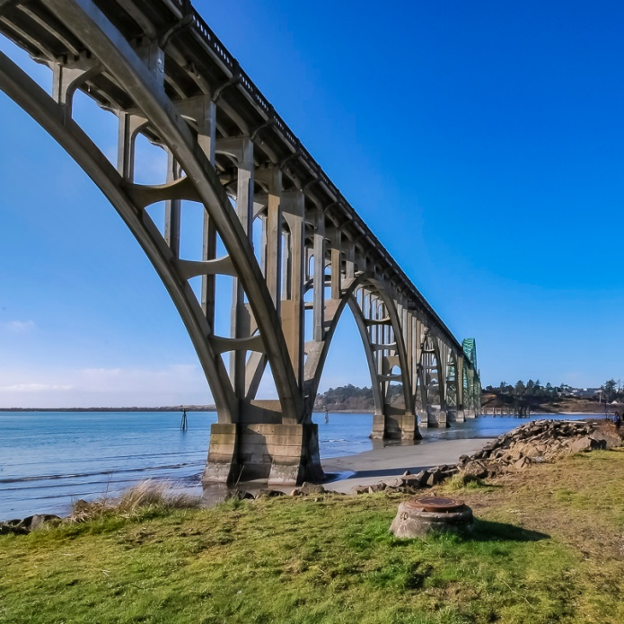 Cee Neuner, ceenphotography.com, Yaquina Bay Bridge, Newport, Oregon, wide angle