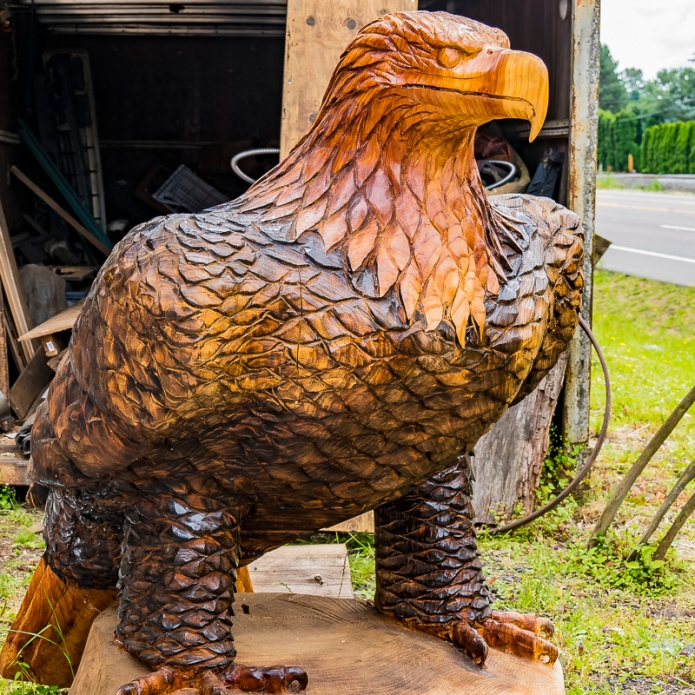 carved eagle, Cee Neuner, Ceenphotography.com, front