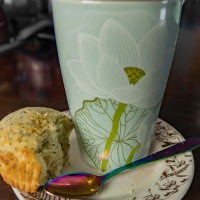 Six Word Saturday - Earl Grey - Lemon Poppy Seed Muffin